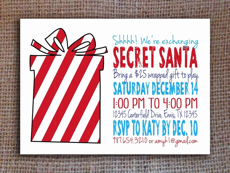 Secret Santa Invitation Template Luxury Best 25 Secret Santa Invitation Ideas On Pinterest