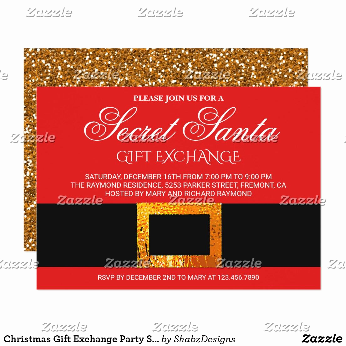 Secret Santa Invitation Template Unique Christmas Gift Exchange Party Secret Santa Invite