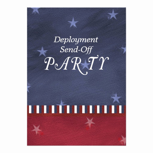 "Send Off Party Invitation Beautiful Military Send F Party Invitation 5"" X 7"" Invitation Card"