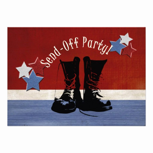 Send Off Party Invitation Best Of Army Boots Send F Party 5x7 Paper Invitation Card