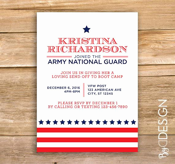 Send Off Party Invitation Best Of Military Going Away Party Invite Send Off Invitation