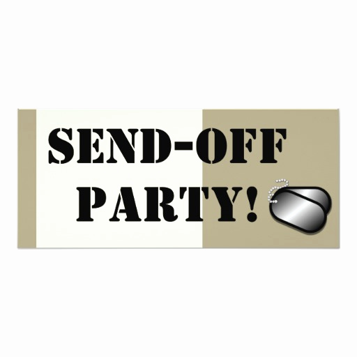 Send Off Party Invitation Best Of Military Send F Party Custom Personalized 4x9 25 Paper