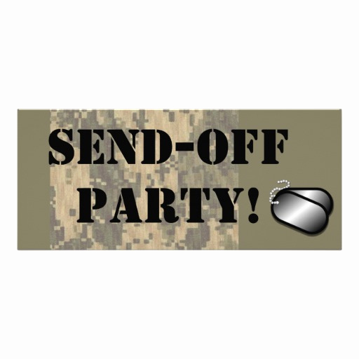Send Off Party Invitation Elegant Military Send F Party 4x9 25 Paper Invitation Card
