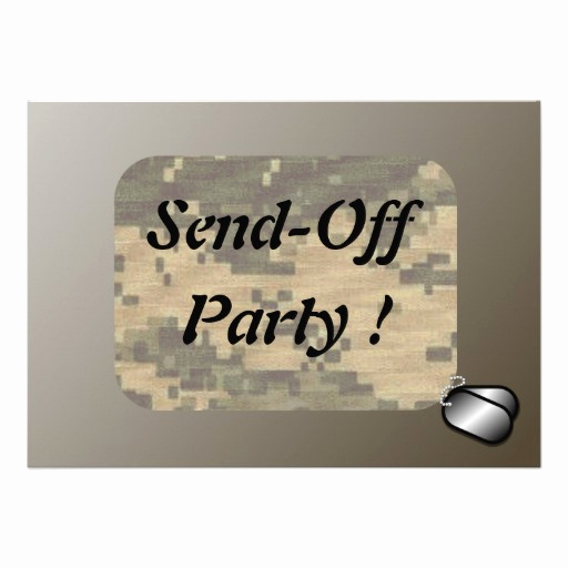 Send Off Party Invitation Elegant Personalized Air force Invitations