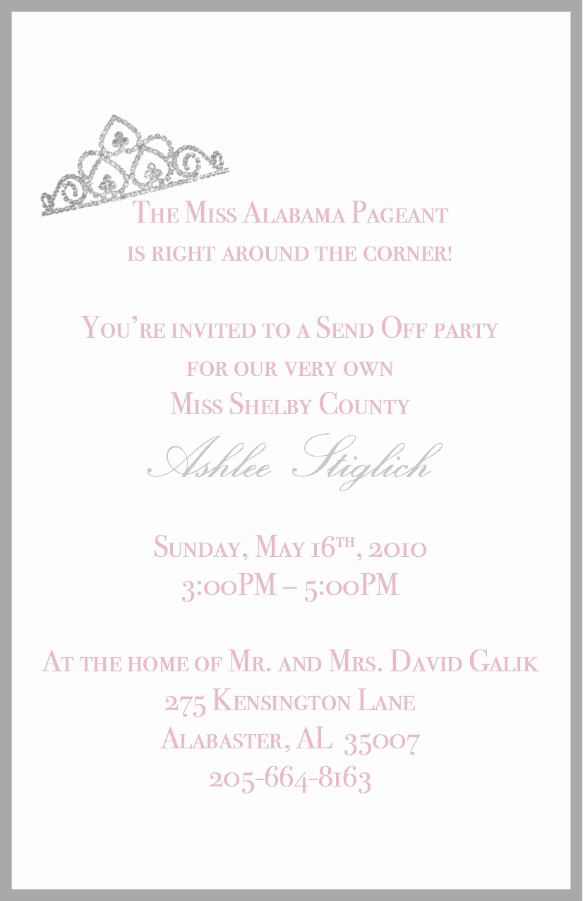 Send Off Party Invitation Fresh Ink Impressions Send Off Party Invitation