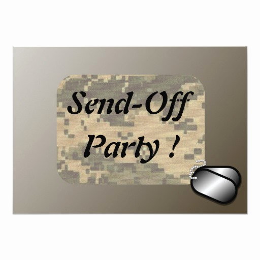 Send Off Party Invitation Lovely Military Send F Party Revised Personalized Invitation