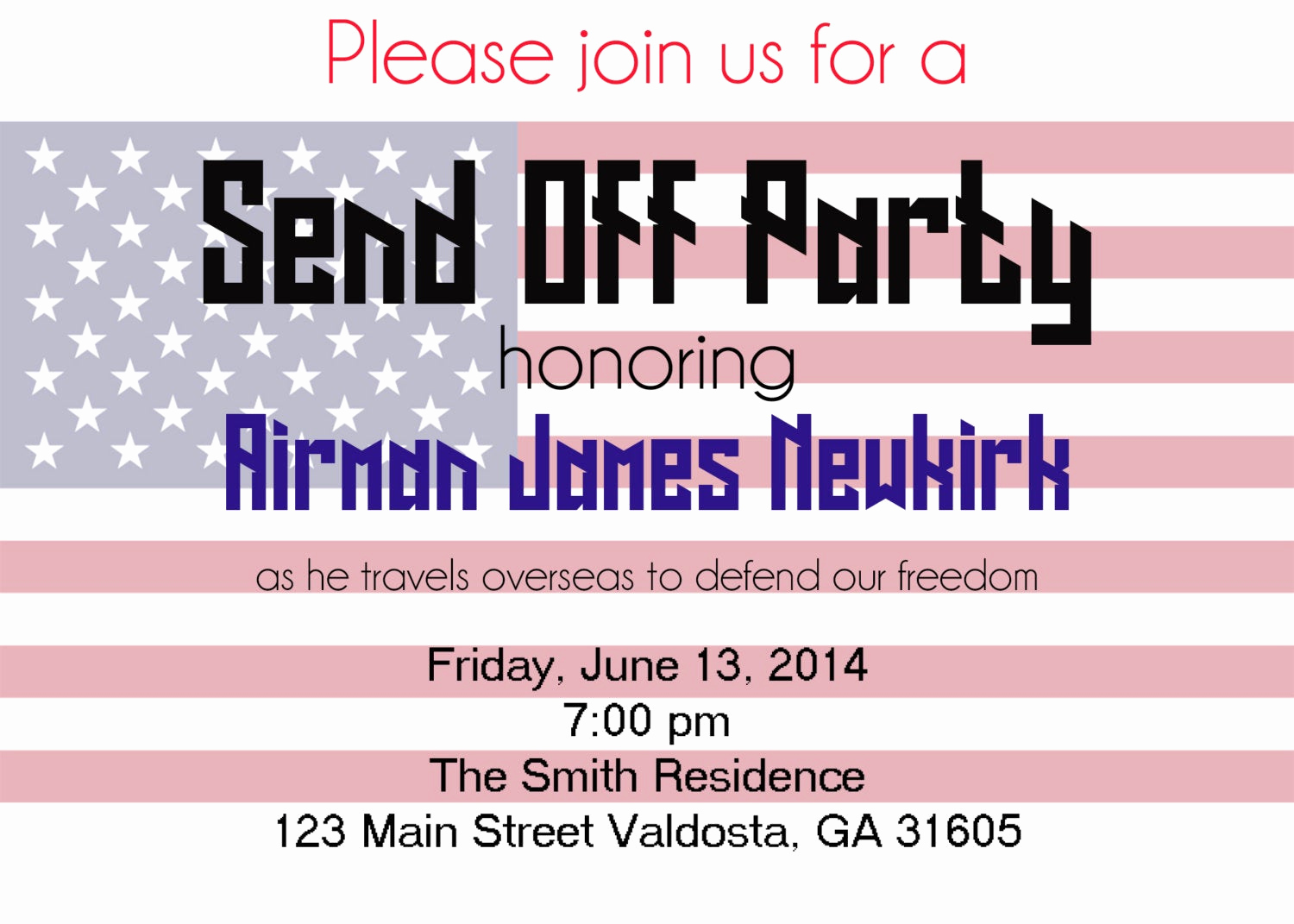 Send Off Party Invitation Lovely Send F Party Invitation by isabellasaintjames On Etsy