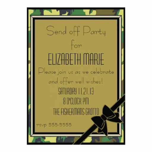Send Off Party Invitation Luxury Military Send F Party Announcement