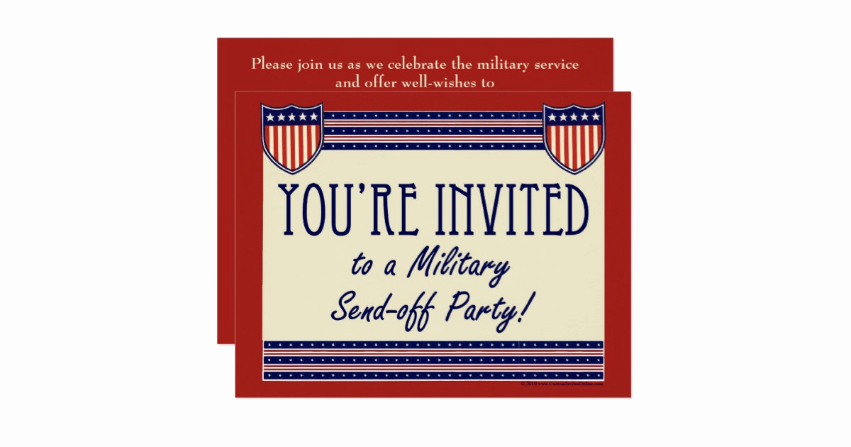Send Off Party Invitation Luxury Military Send Off Party Invitations
