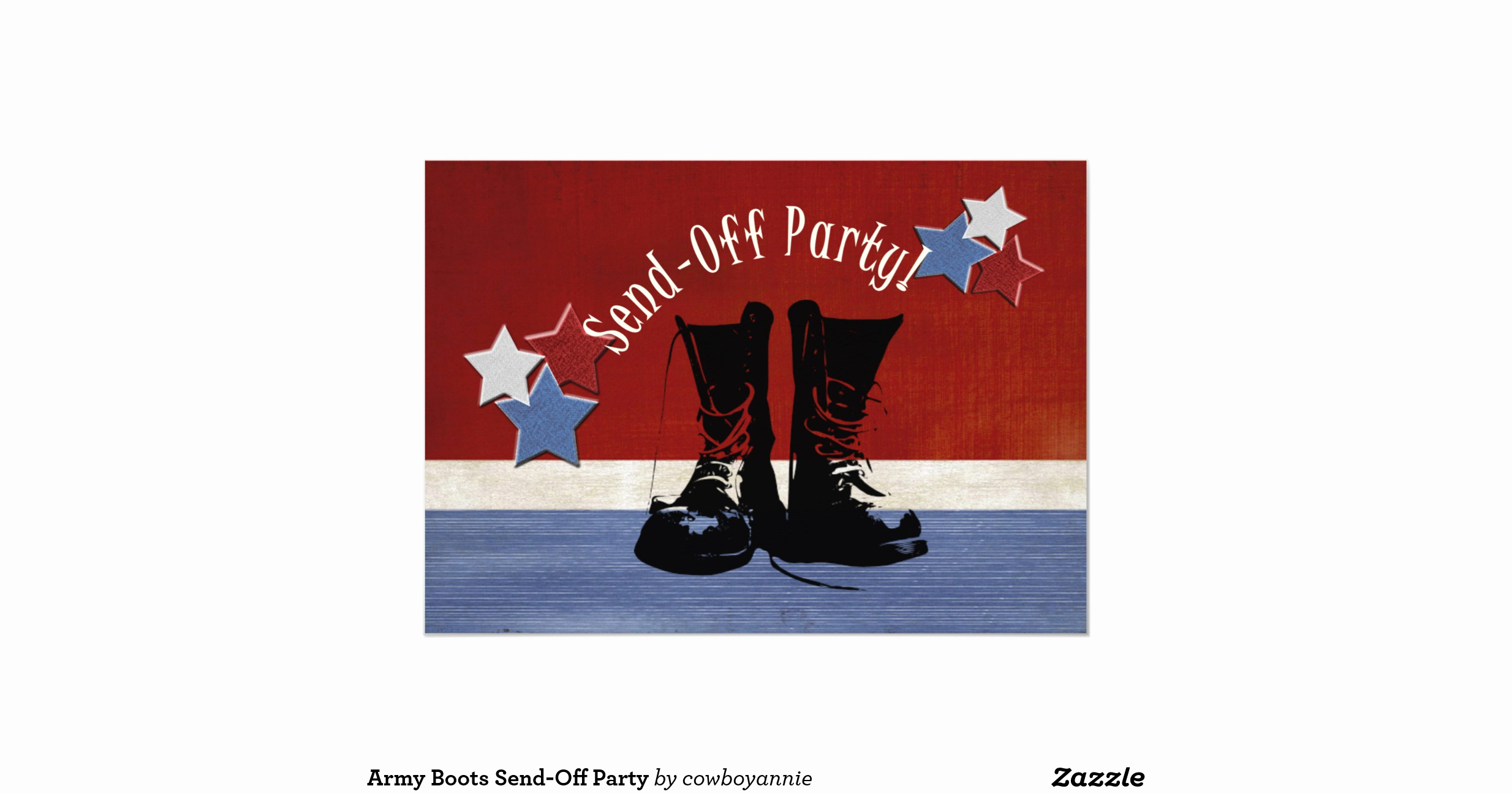 Send Off Party Invitation New Army Boots Send Off Party Invitation
