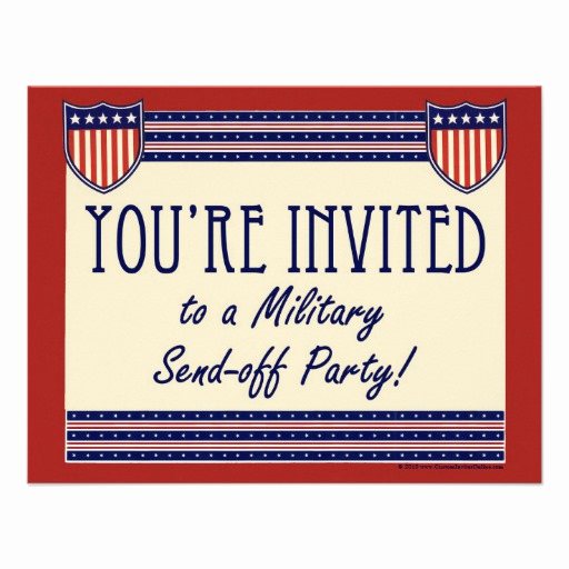 "Send Off Party Invitation New Military Send Off Party Invitations 4 25"" X 5 5"