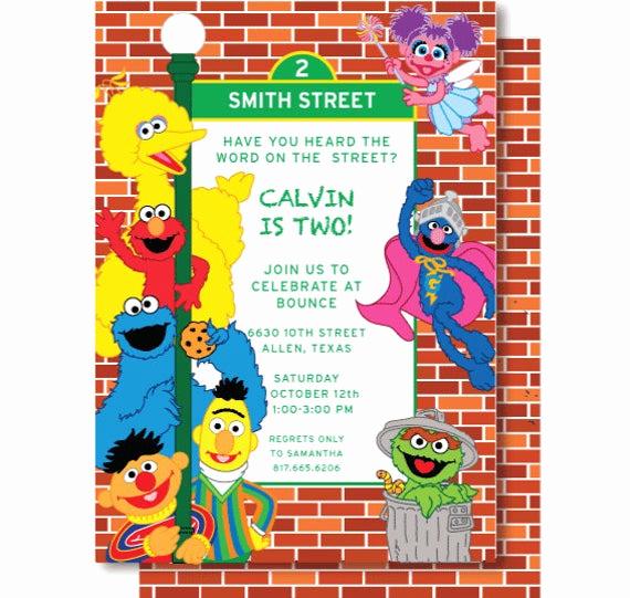 Sesame Street Birthday Invitation Templates Awesome Unavailable Listing On Etsy