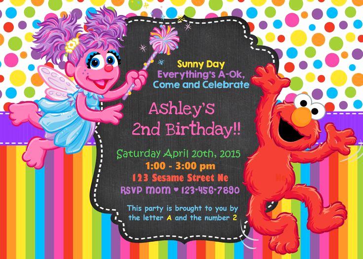 Sesame Street Birthday Invitation Templates Beautiful Best 25 Sesame Street Invitations Ideas On Pinterest