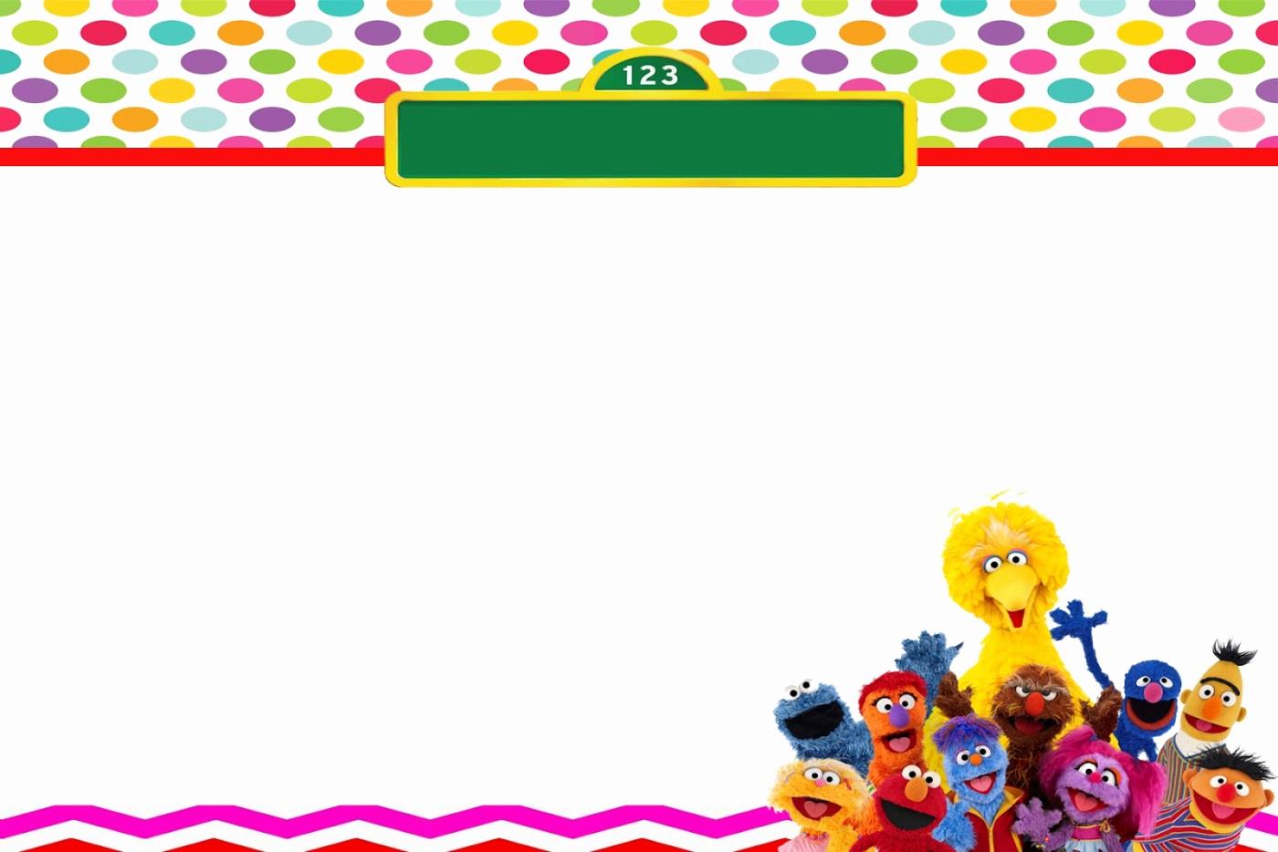 Sesame Street Birthday Invitation Templates Beautiful Free Sesame Street Birthday Invitations – Free Printable