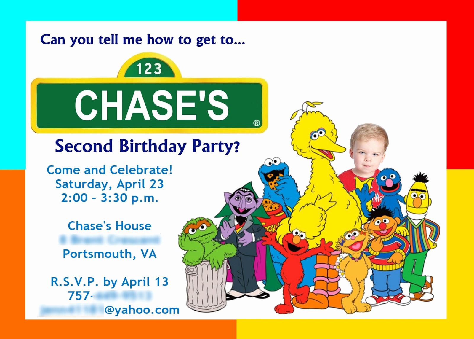 Sesame Street Birthday Invitation Templates Beautiful J Settar Design Sesame Street Birthday