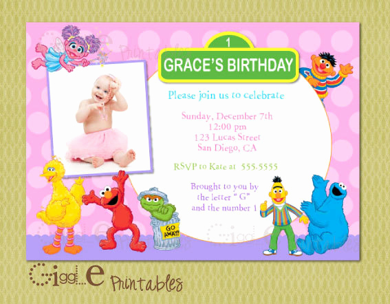 Sesame Street Birthday Invitation Templates Best Of Sesame Street Birthday Invitations Ideas – Bagvania Free