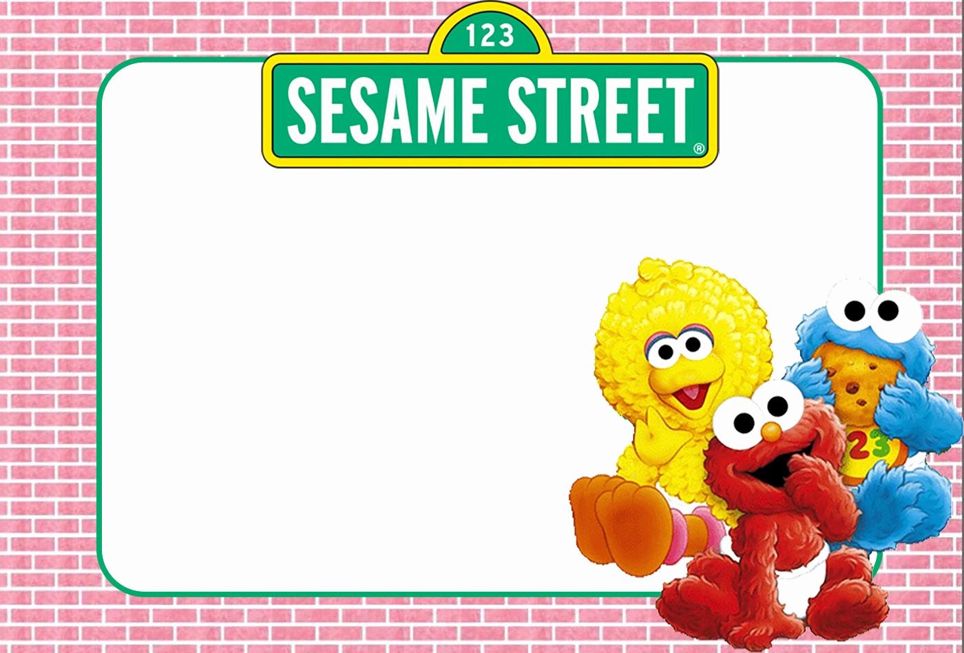 Sesame Street Birthday Invitation Templates Elegant Free Printable Sesame Street Invitation Templates