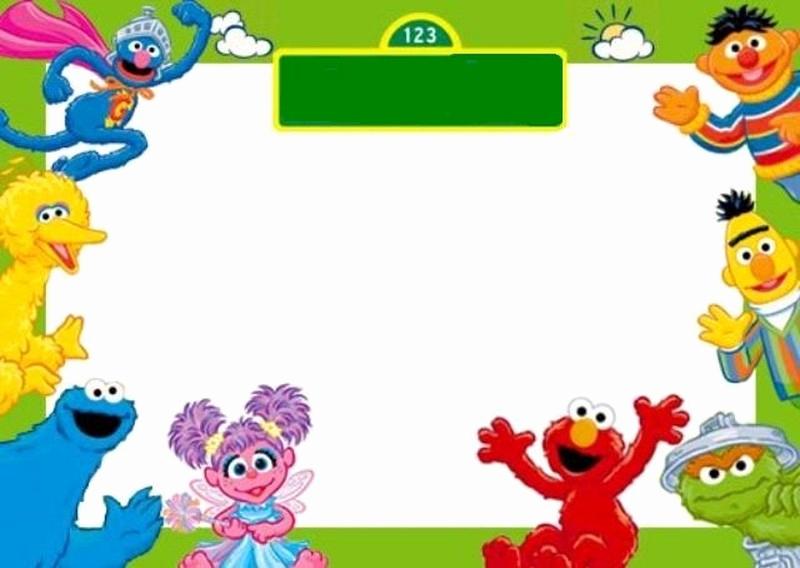 Sesame Street Birthday Invitation Templates Elegant Free Sesame Street Invitation Template