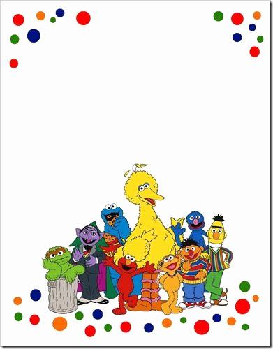 Sesame Street Birthday Invitation Templates Elegant Sesame Street Invite Template First Birthday