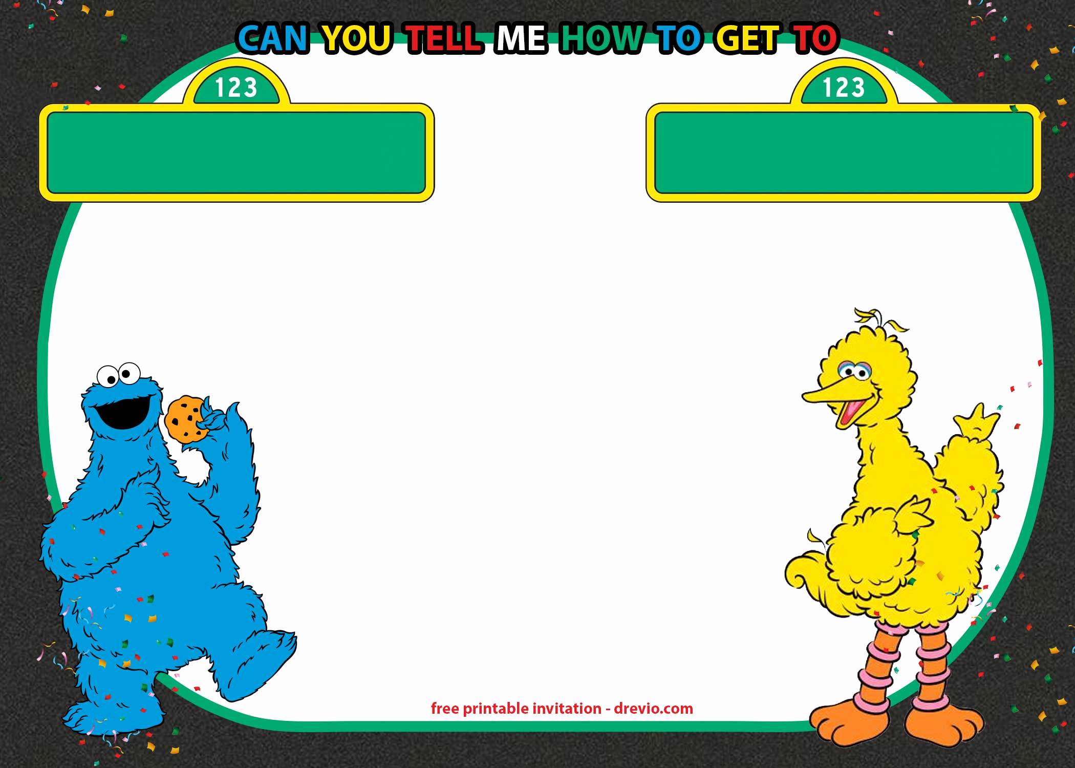 Sesame Street Birthday Invitation Templates Inspirational Free Sesame Street Invitation Template for Twins