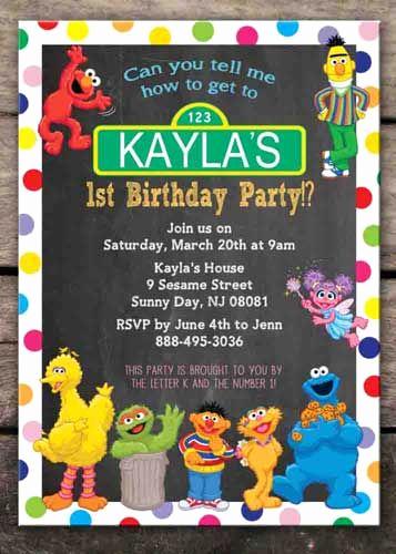 Sesame Street Birthday Invitation Templates Lovely 25 Best Ideas About Sesame Street Invitations On