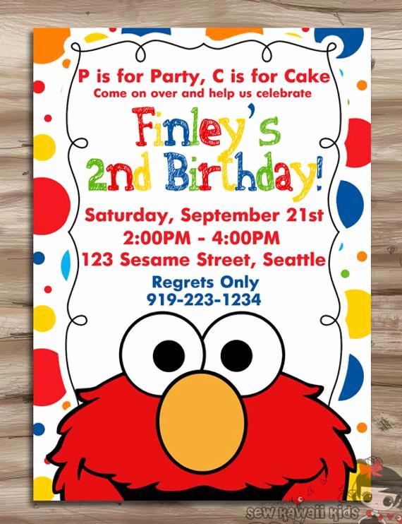 Sesame Street Birthday Invitation Templates Lovely Elmo Invitation Elmo Invitation Elmo Birthday Invite Sesame