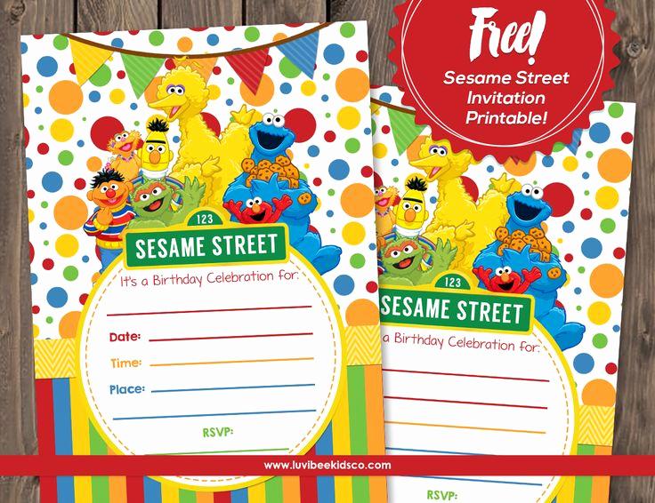 Sesame Street Birthday Invitation Templates New Best 25 Sesame Street Invitations Ideas On Pinterest