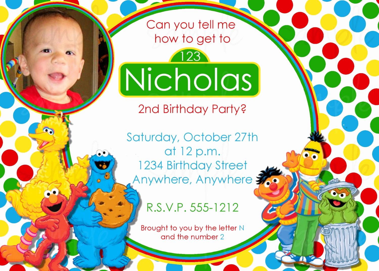Sesame Street Birthday Invitation Templates New Sesame Street Birthday Invitation