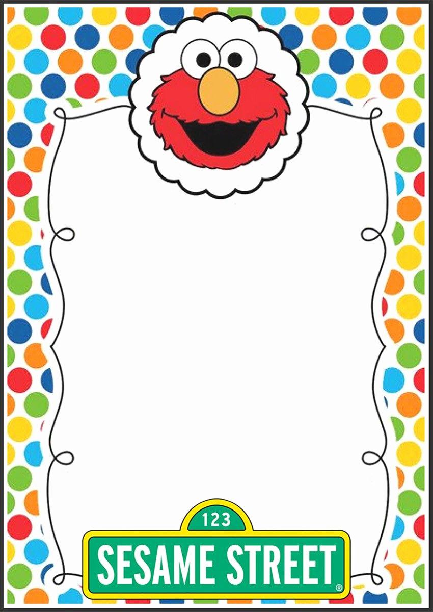 Sesame Street Birthday Invitation Templates Unique Elmo Party Invitation Template