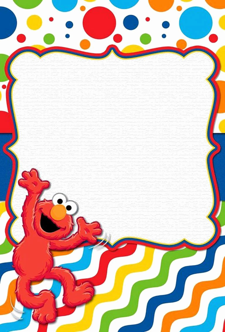 Sesame Street Invitation Template Awesome Free Line Elmo Invitation Template