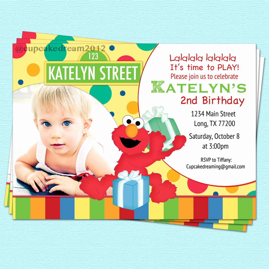 sesame street invitation elmo birthday