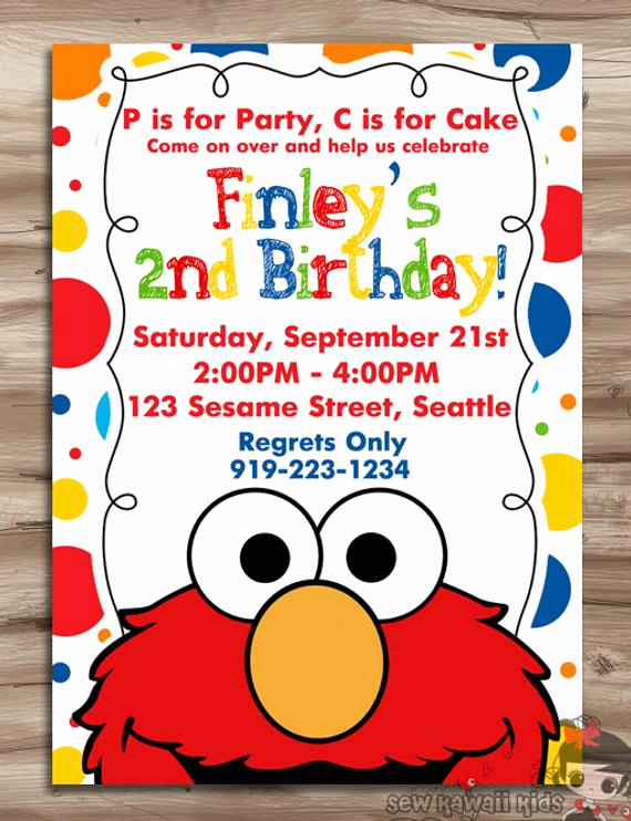 Sesame Street Invitation Template Free Awesome Elmo Invitation Elmo Invitation Elmo Birthday Invite Sesame