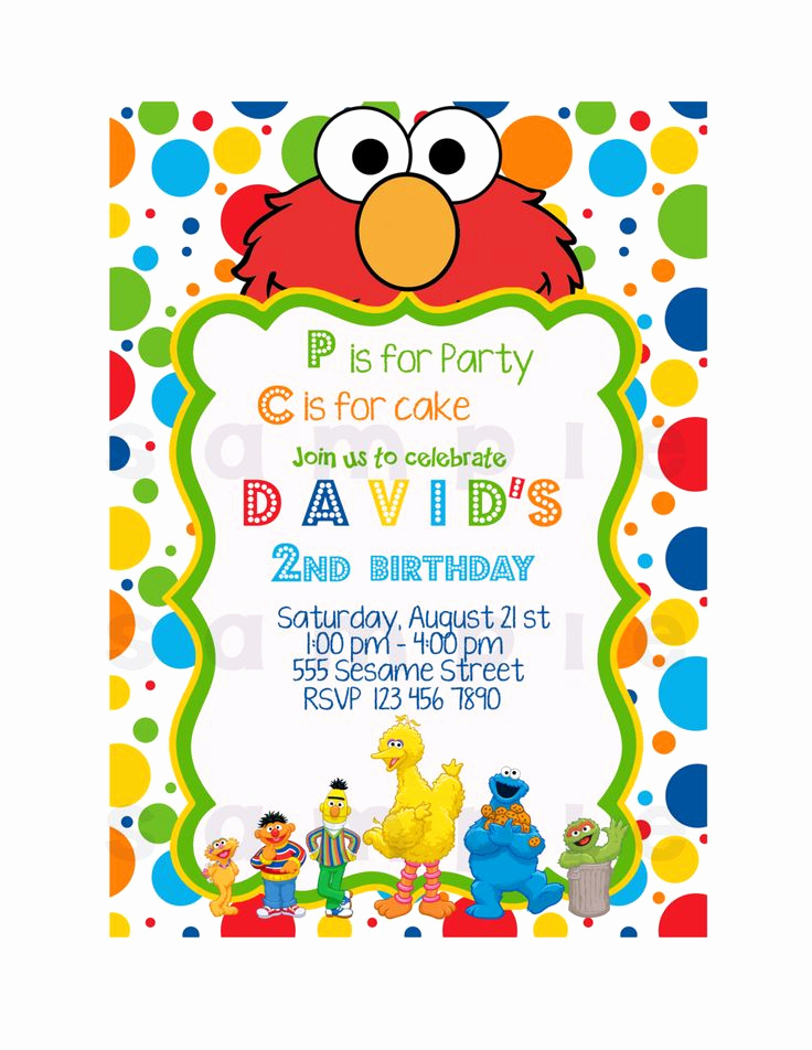 Sesame Street Invitation Template Free Awesome Elmo Invitation Printable Invitation Sesame Street