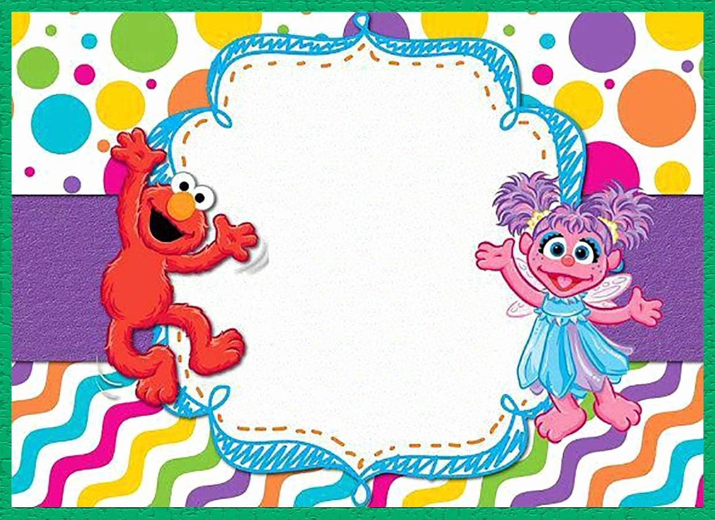 Sesame Street Invitation Template Free Awesome Free Printable Sesame Street Invitation Templates