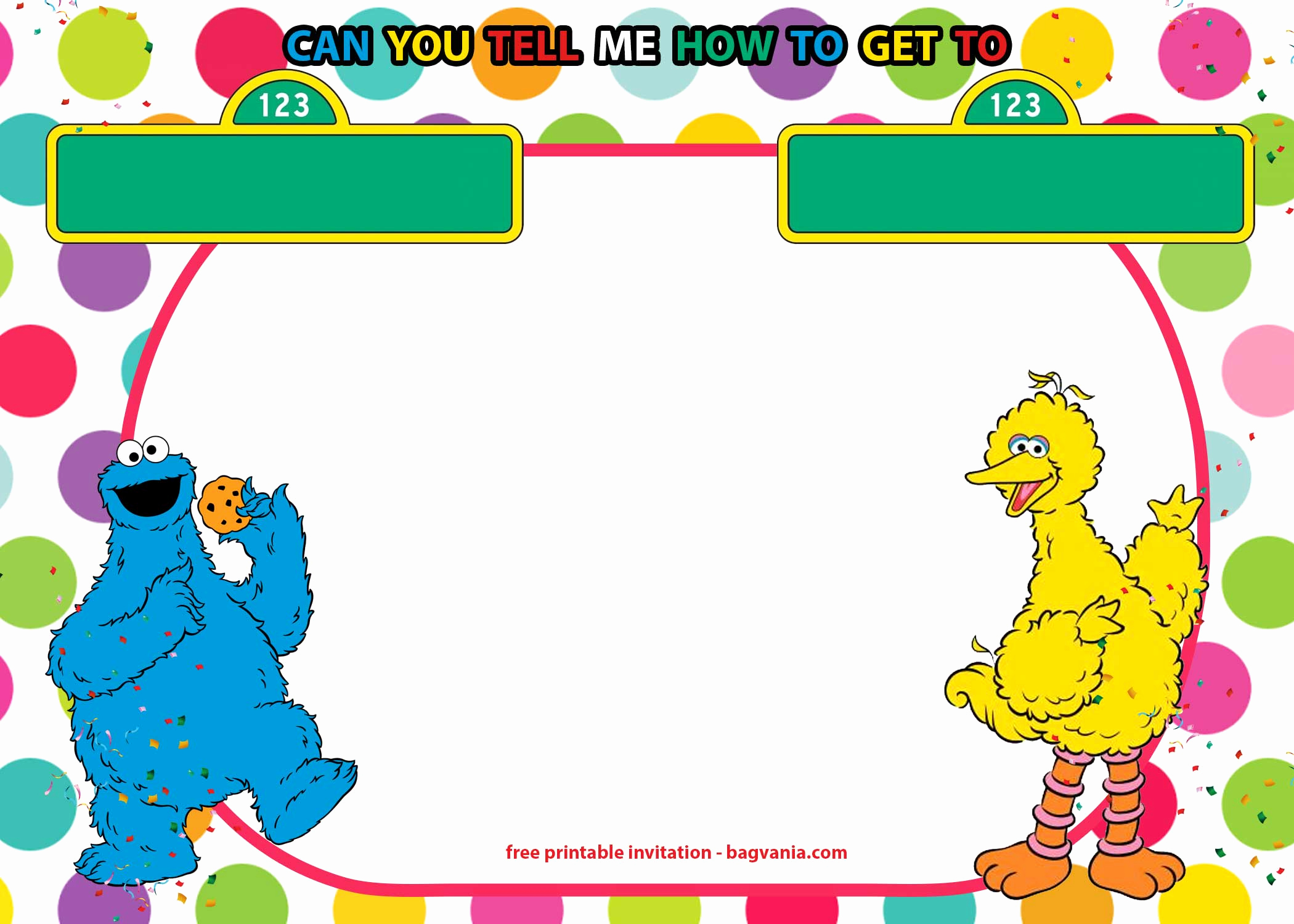 Sesame Street Invitation Template Free Awesome Free Sesame Street Invitations Templates for Twins – Free