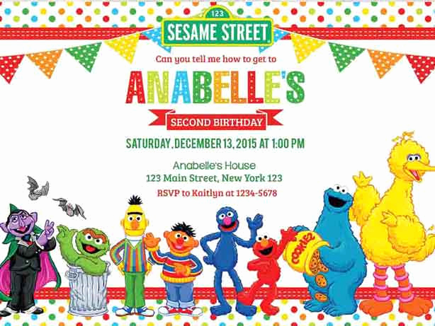Sesame Street Invitation Template Free Beautiful 100 Sesame Street Birthday Party Ideas—by A Professional