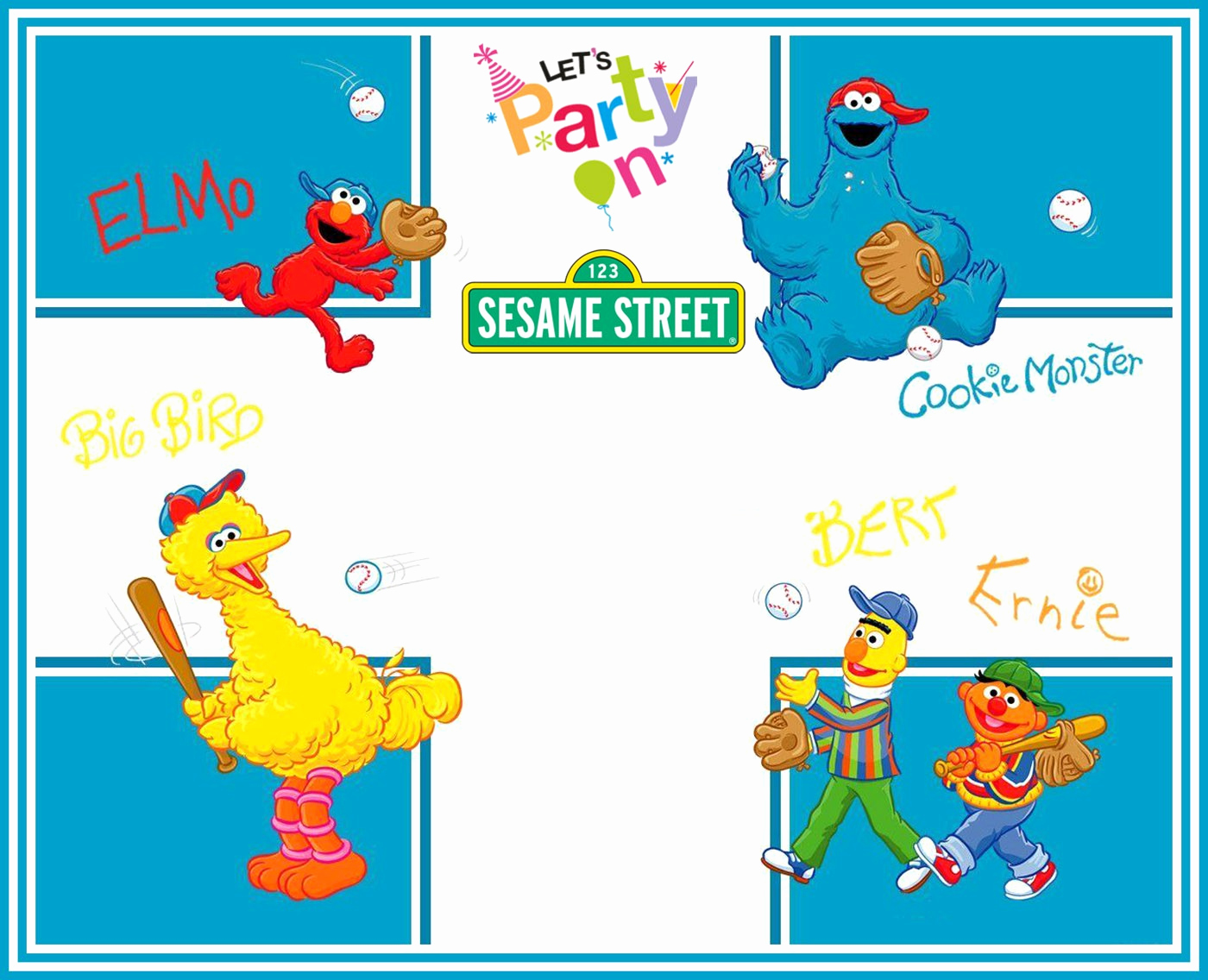 Sesame Street Invitation Template Free Beautiful Free Printable Sesame Street Invitation Templates