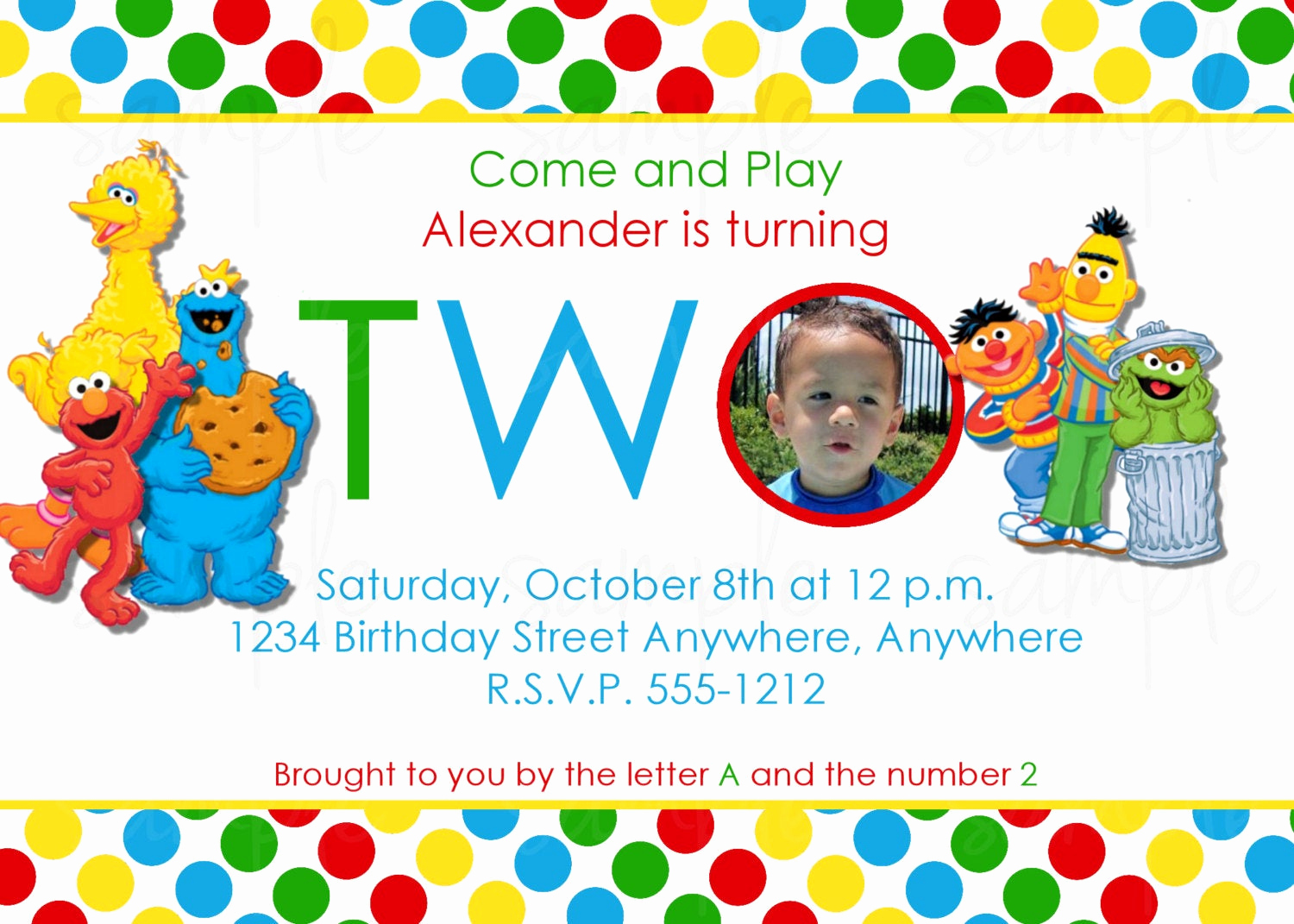 Sesame Street Invitation Template Free Best Of Sesame Street Birthday Invitation