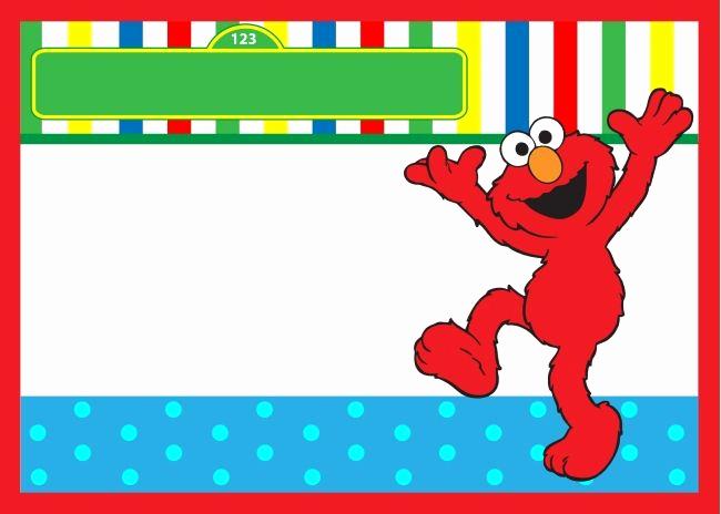 Sesame Street Invitation Template Free Inspirational Elmo Birthday Invitation Free Template