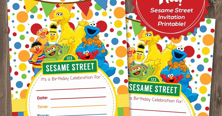 Sesame Street Invitation Template Free Luxury 17 Best Ideas About Sesame Street Invitations On Pinterest