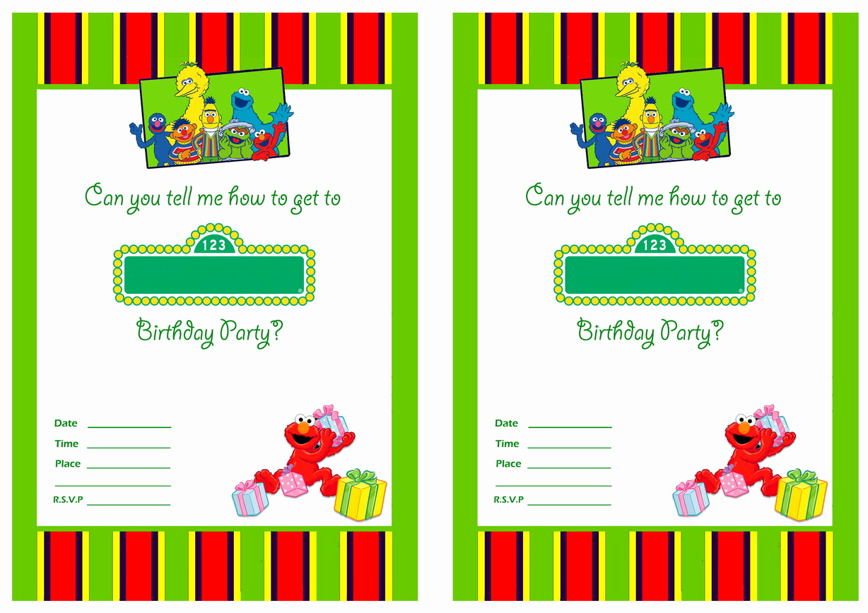 Sesame Street Invitation Template Free Luxury Free Printable Sesame Street 1st Birthday Invitations