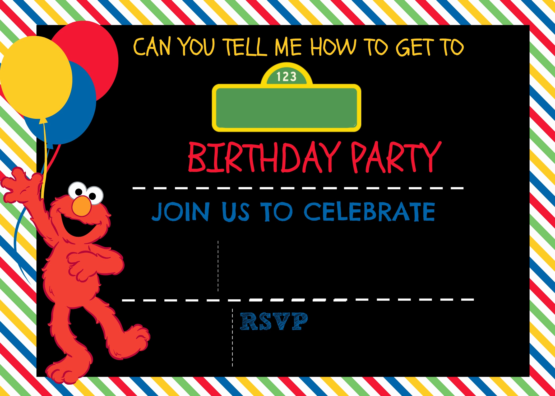 Sesame Street Invitation Template Free Luxury How to Make A Sesame Street Digital Invitation