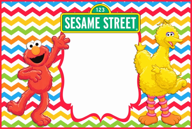 Sesame Street Invitation Template Free New 12 Printable Elmo Invitations Children S Favorite