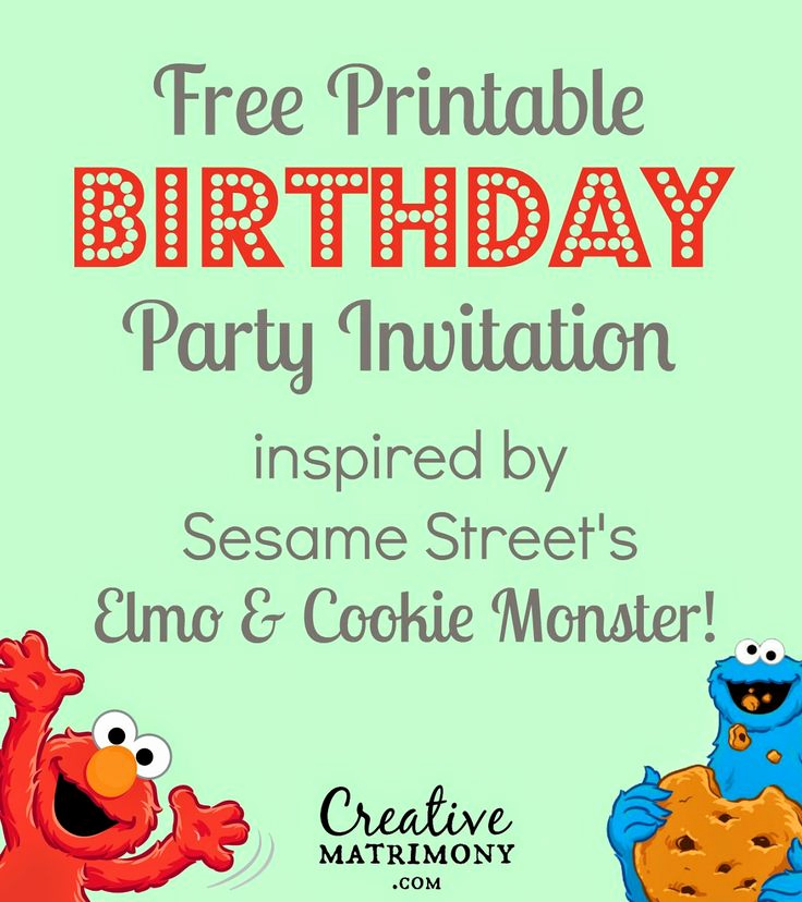 Sesame Street Invitation Template Free Unique Free Printable Adorable Sesame Street themed Birthday