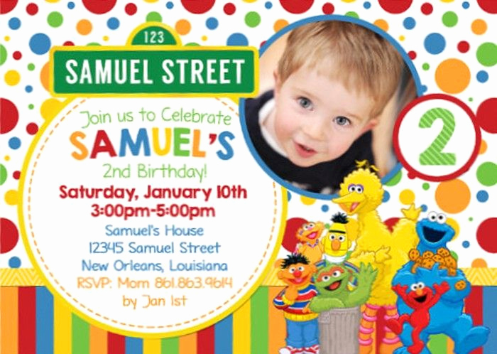 Sesame Street Invitation Template Free Unique Free Sesame Street Birthday Invitations – Free Printable