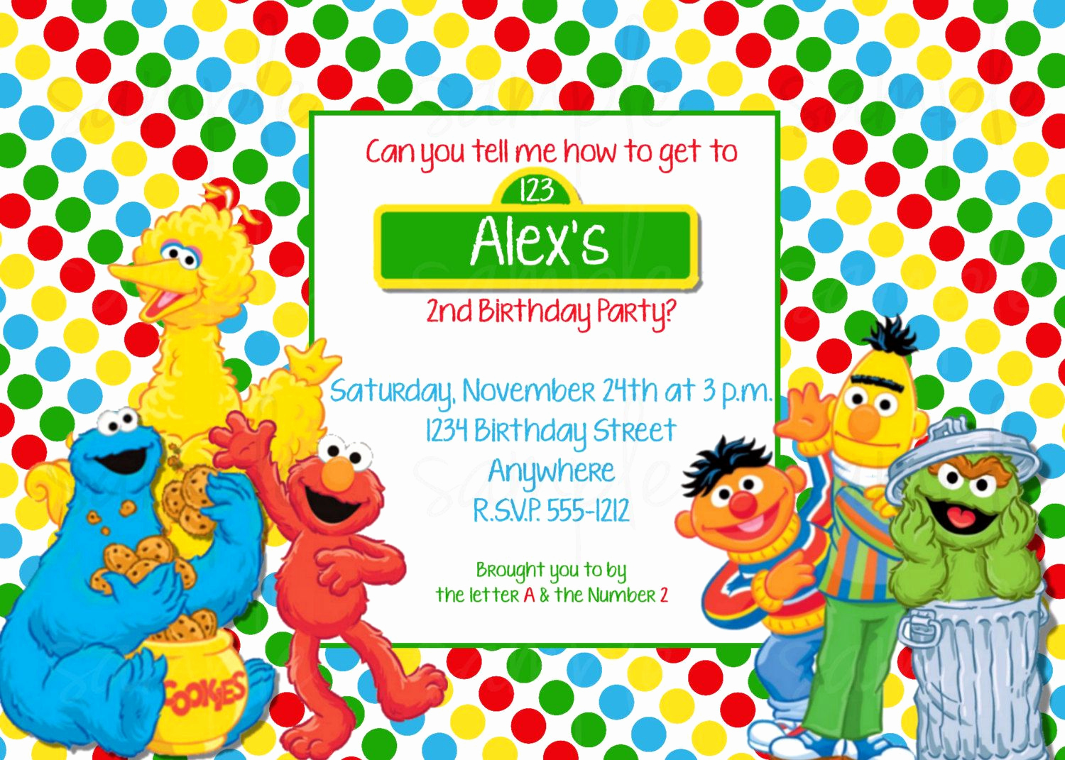 Sesame Street Invitation Template Fresh Sesame Street Birthday Invitations Pinterest