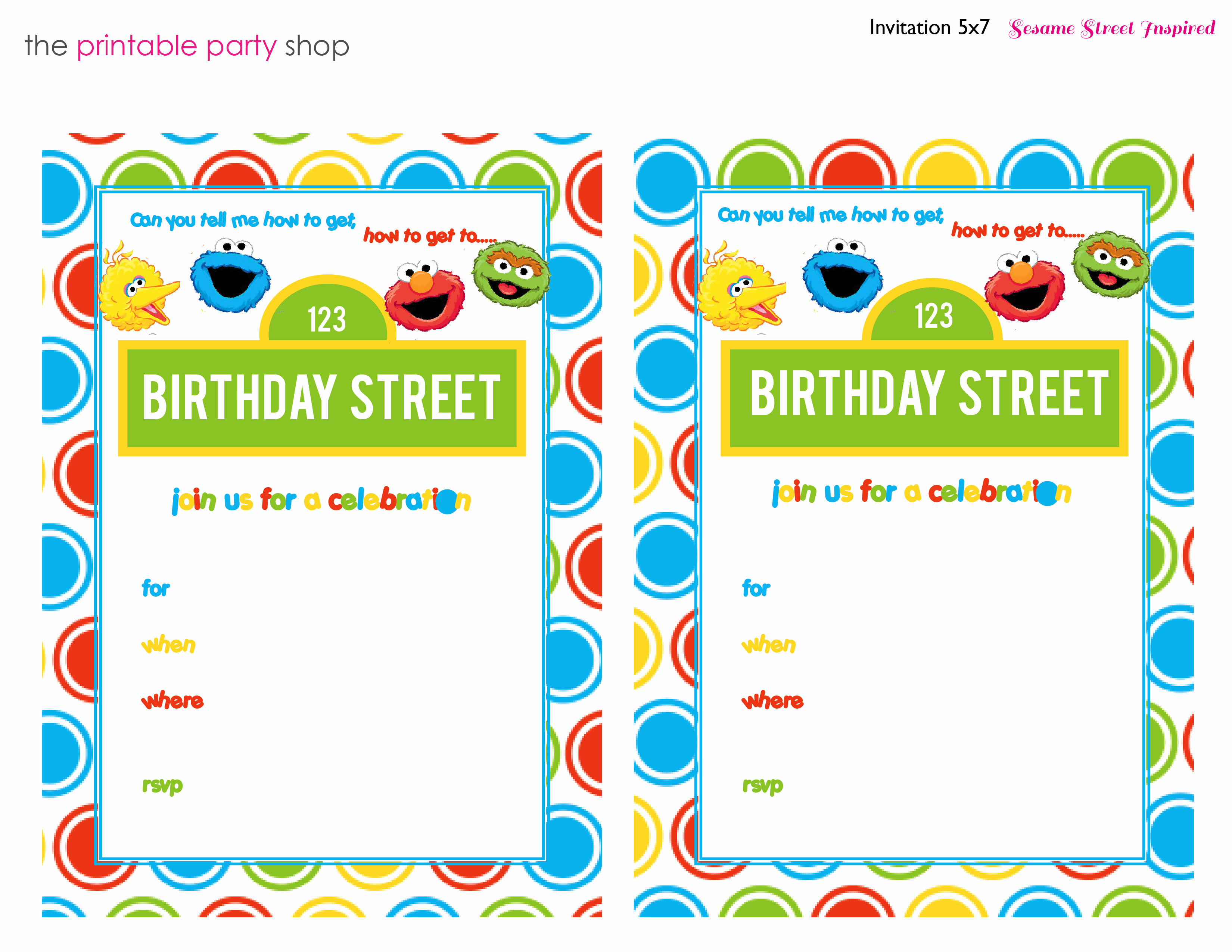 Sesame Street Invitation Template Inspirational Free Printable Sesame Street 1st Birthday Invitations