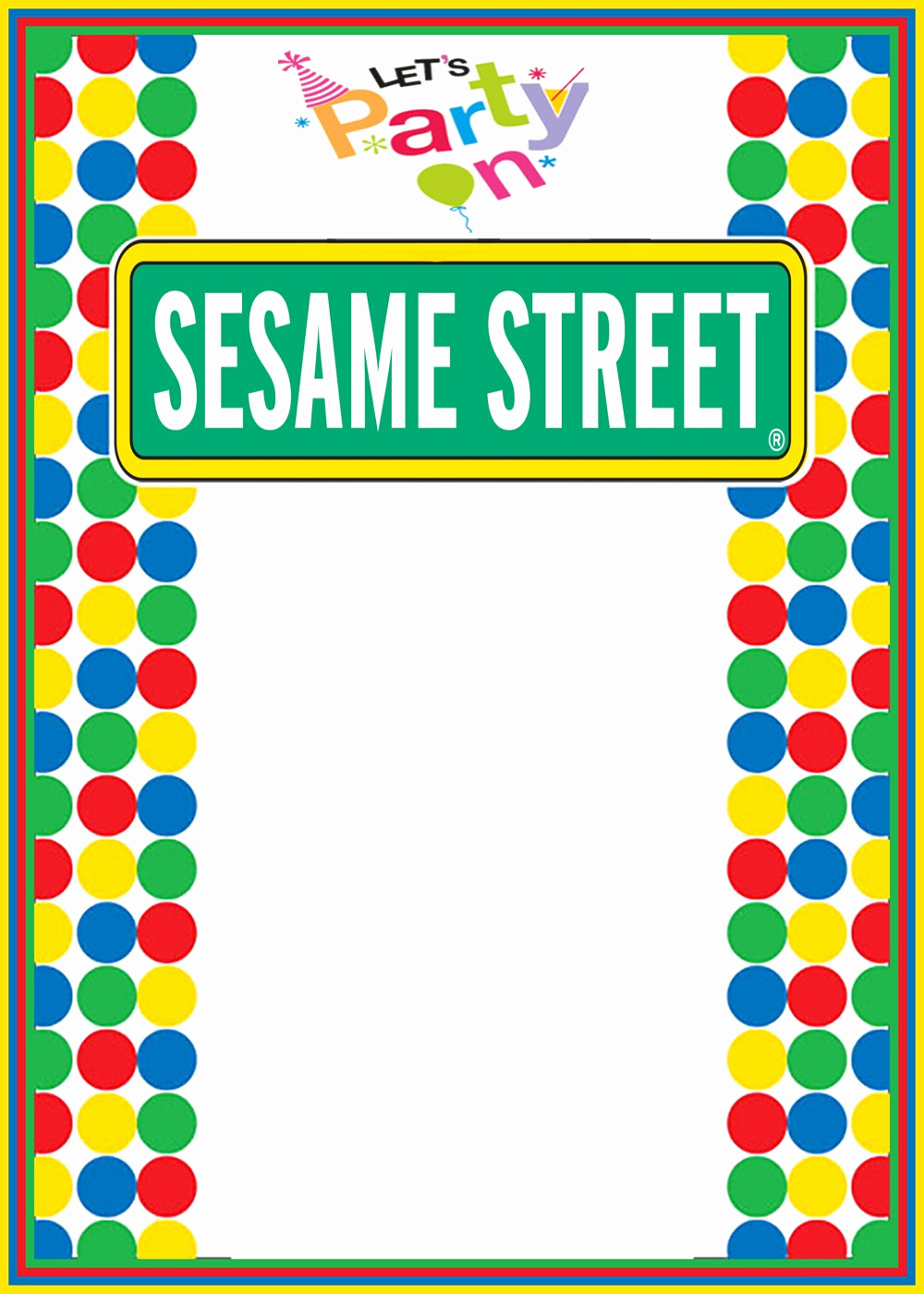 Sesame Street Invitation Template Inspirational Free Printable Sesame Street Invitation Templates
