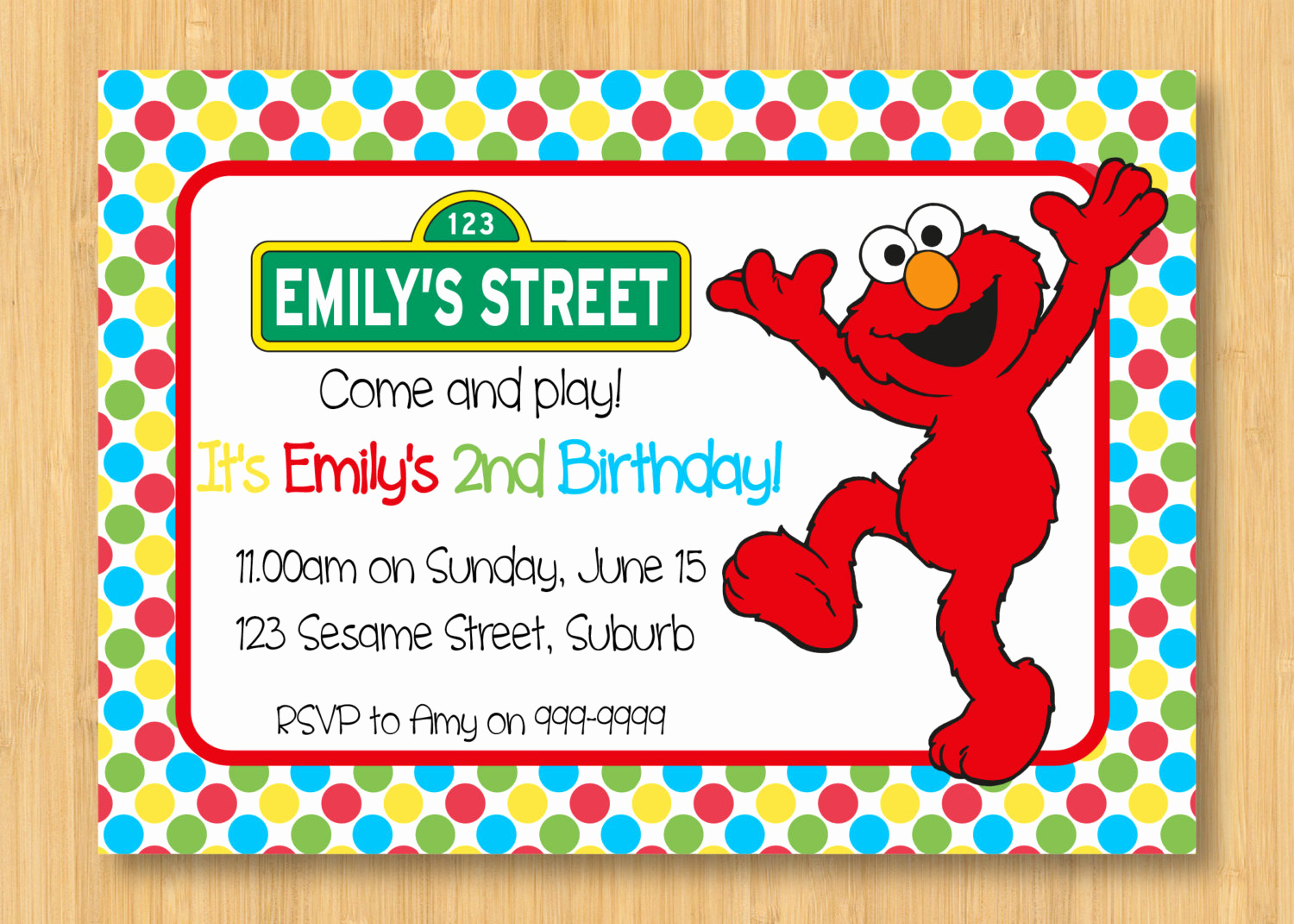 Sesame Street Invitation Template Lovely Elmo Printable Birthday Party Invitation 5 X 7 Sesame