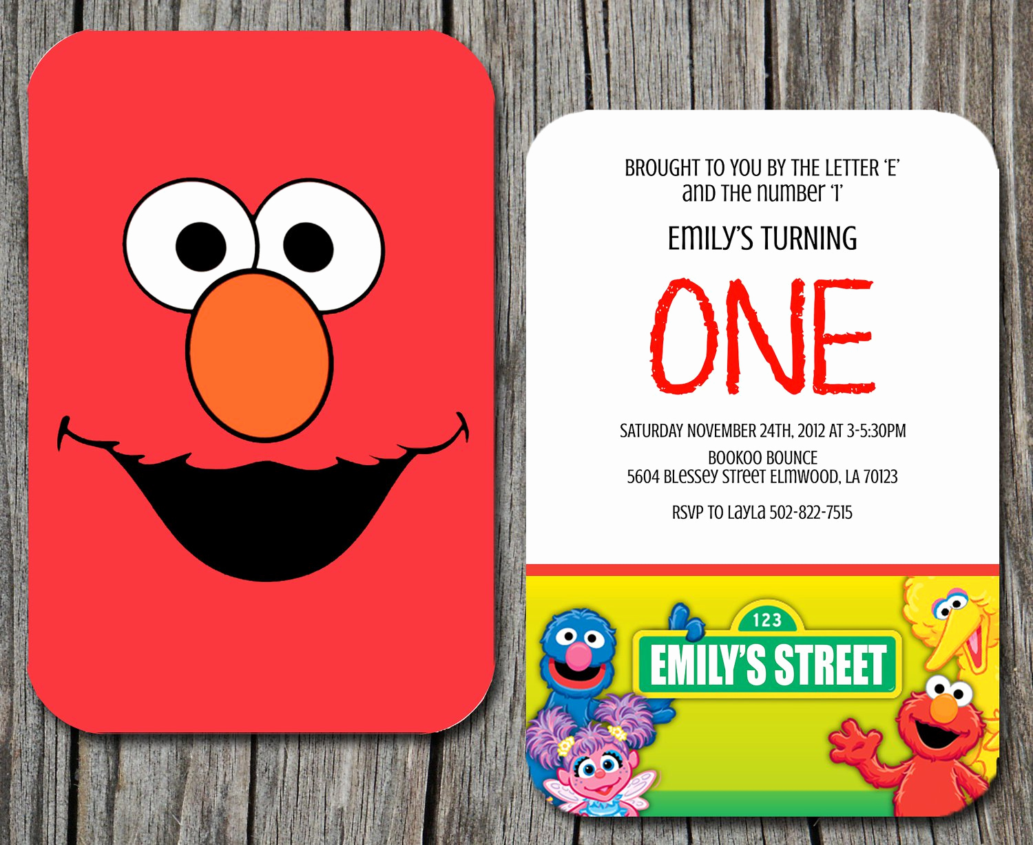 Sesame Street Invitation Template New Sesame Street Birthday Invitations Printable